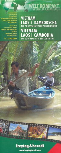 9780707911496: Vietnam, Laos, Cambodia 1:1,250,000 Travel Map, waterproof FREYTAG