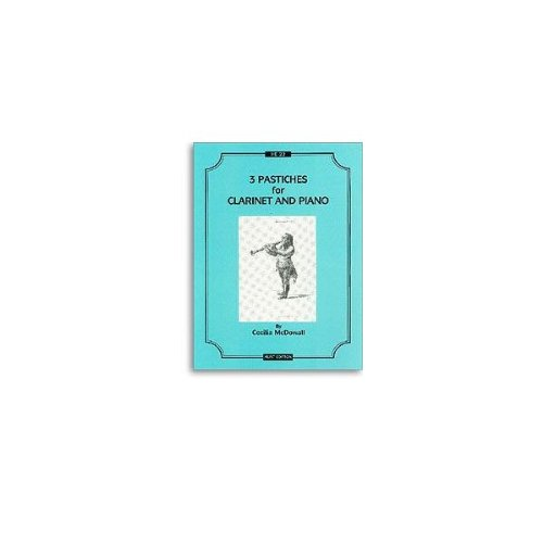 9780708002223: McDowall - Three Pastiches - Clarinet & Piano
