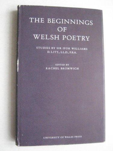 9780708300350: Beginnings of Welsh Poetry
