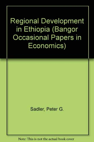 9780708306123: Regional Development in Ethiopia: A Cost-Benefit Appraisal (Bangor occasional papers in economics)