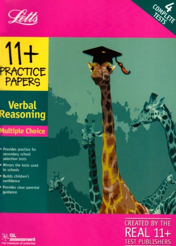 11+ Practice Papers Multiple-choice Verbal Reasoning: Contains