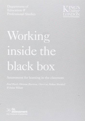 9780708713792: WORKING INSIDE THE BLACK BOX: Assessment for Learning in the Classroom