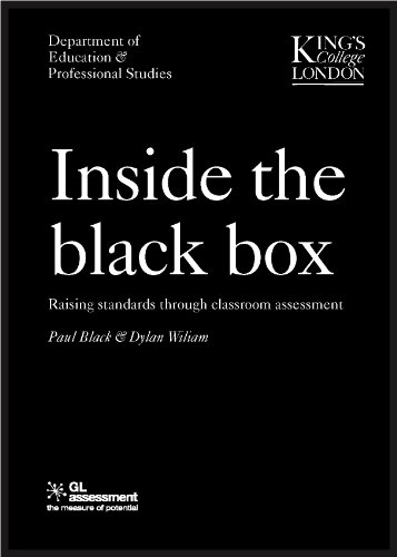 9780708713815: Inside the Black Box: v. 1: Raising Standards Through Classroom Assessment