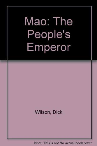 9780708818268: Mao: the People's Emperor