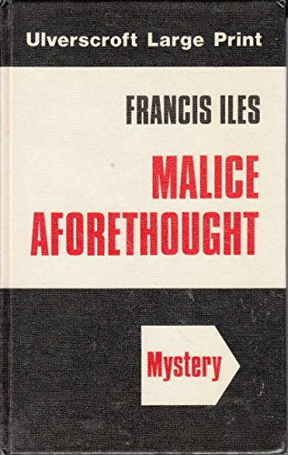 9780708904770: Malice Aforethought (U)