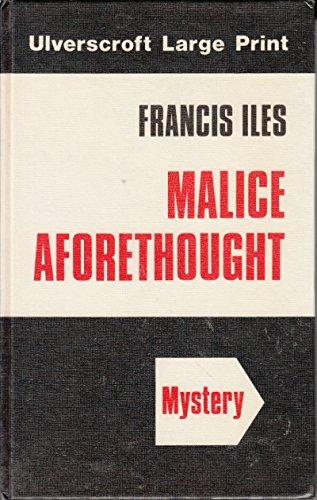 9780708904770: Malice Aforethought