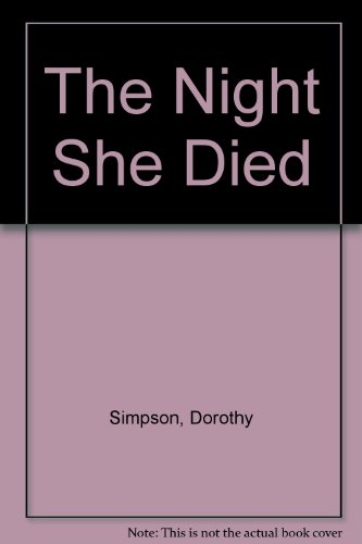 9780708909096: The Night She Died