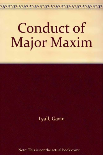 9780708912140: Conduct of Major Maxim (Ulverscroft large print)