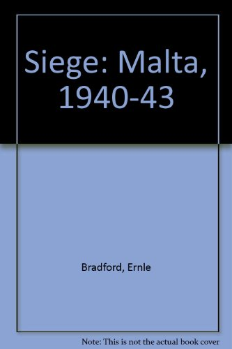 Siege Malta 1940-43 (0708917550) by Bradford, Ernie
