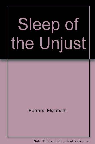 9780708928912: Sleep of the Unjust