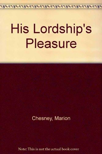 9780708942260: His Lordship's Pleasure