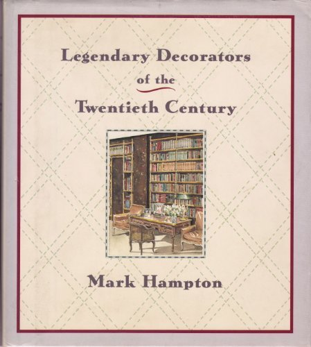 9780709050025: Legendary Decorators of the Twentieth Century