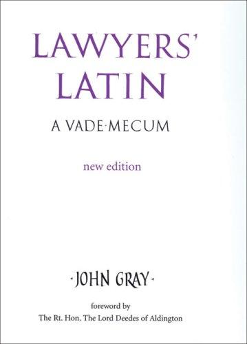 9780709082774: Lawyers' Latin: A Vade-mecum