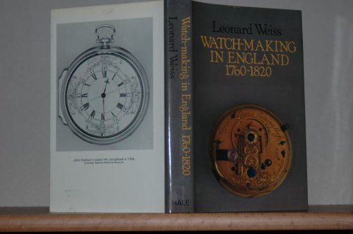 9780709197256: Watchmaking in England, 1760-1820