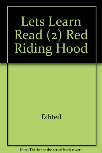 Lets Learn Read (2) Red Riding Hood: Edited