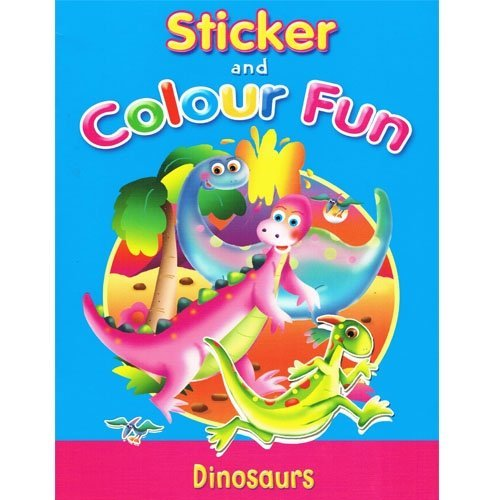 9780709713647: Sticker And Colour Fun Dinosaurs
