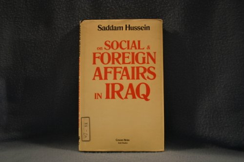 9780709900702: Social and foreign affairs in Iraq
