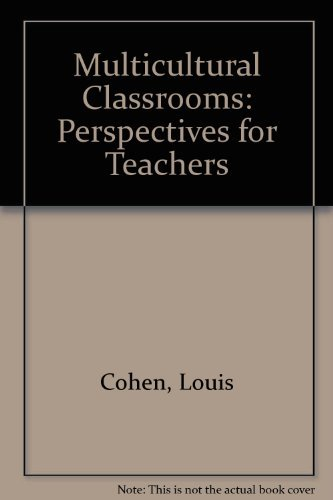 9780709907190: Multicultural Classrooms: Perspectives for Teachers