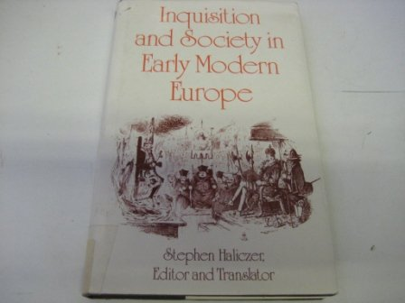 9780709912637: Inquisition and Society in Early Modern Europe