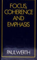 9780709927907: Focus, Coherence and Emphasis