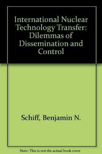 9780709933021: International Nuclear Technology Transfer: Dilemmas of Dissemination and Control