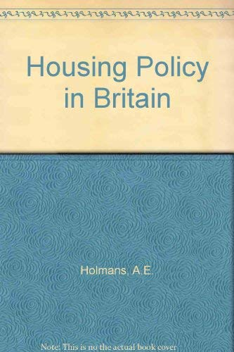 9780709937890: Housing Policy in Britain