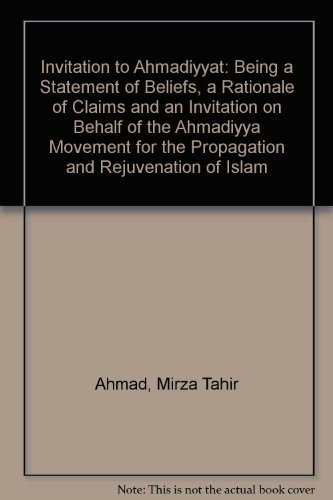 Invitation to Ahmadiyyat.: Hazrat Haji Mirza