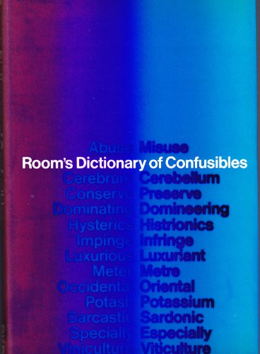 Dictionary of Confusibles: Adrian Room (editor)