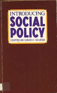 Introducing Social Policy: David Charles Marsh