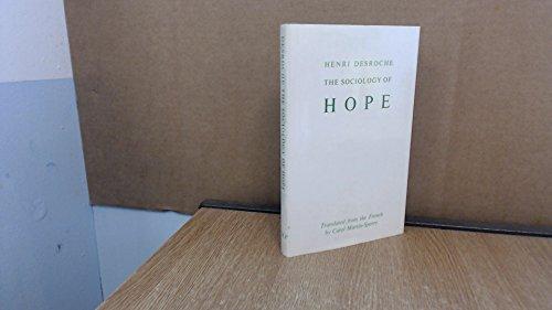 9780710003119: Sociology of Hope
