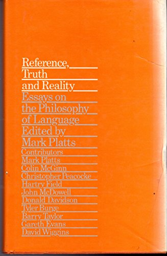 9780710004055: Reference Truth and Reality: Essays on the Philosophy of Language