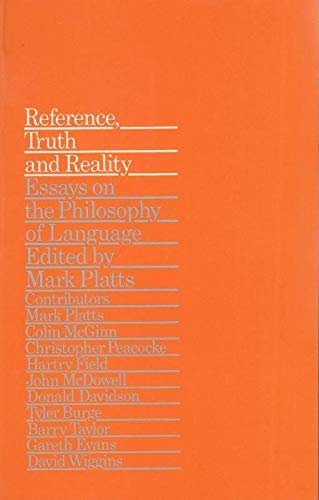 9780710004062: Reference, Truth and Reality: Essays on the Philosophy of Language