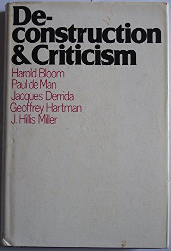 9780710004369: Deconstruction and Criticism