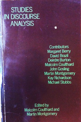 9780710005106: Studies in Discourse Analysis