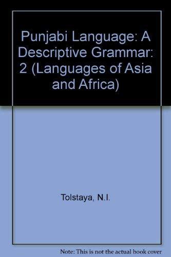 9780710009395: Punjabi Language: A Descriptive Grammar: 2 (Languages of Asia and Africa)