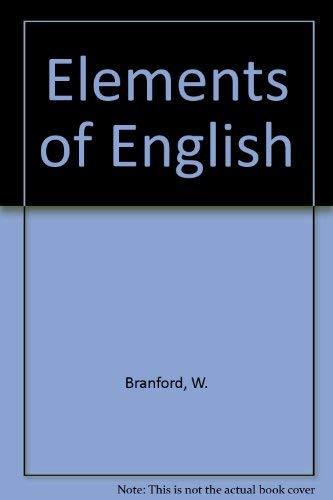 9780710011077: Elements of English