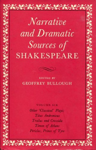 Stock image for Narrative and Dramatic Sources of Shakespeare for sale by Better World Books