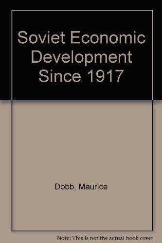 9780710012852: Soviet Economic Development Since 1917