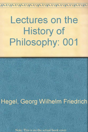 9780710015143: Lectures on the History of Philosophy: 001