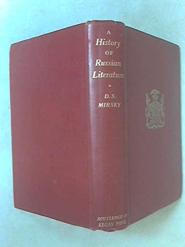9780710018625: History of Russian Literature