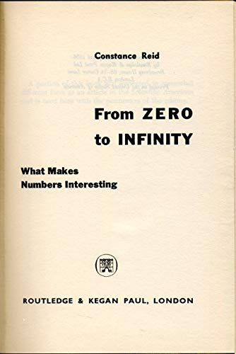 9780710020161: From Zero to Infinity