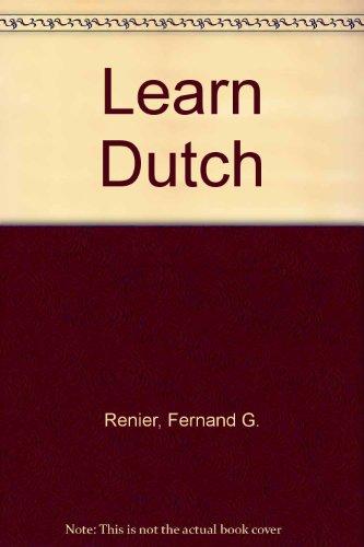 Learn Dutch IMPORT: Fernand G Renier