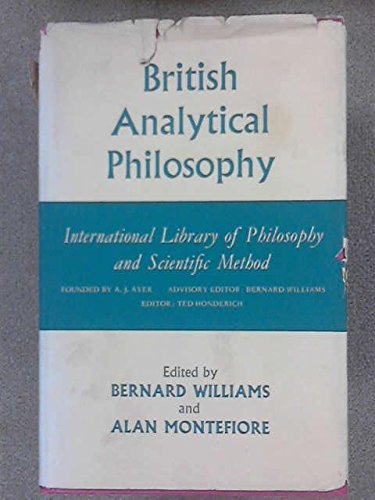 9780710022974: British Analytical Philosophy (International Library of Philosophy)