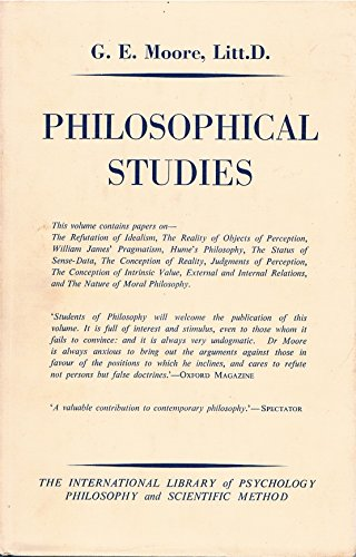 Philosophical Studies: Moore, George Edward