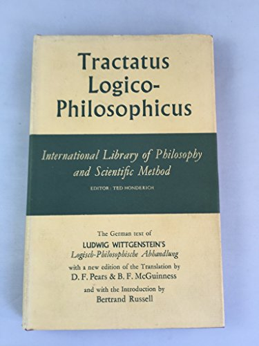 9780710030047: Tractatus Logico-Philosophicus (International Library of Philosophy)