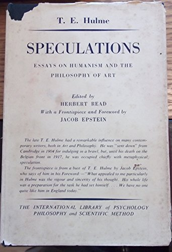 9780710030146: Speculations: Essays on Humanism and the Philosophy of Art