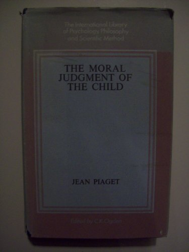 9780710031068: Moral Judgment of the Child (International Library of Psychology)