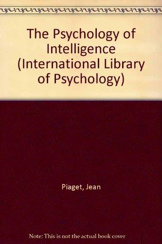 piaget psychology of intelligence pdf