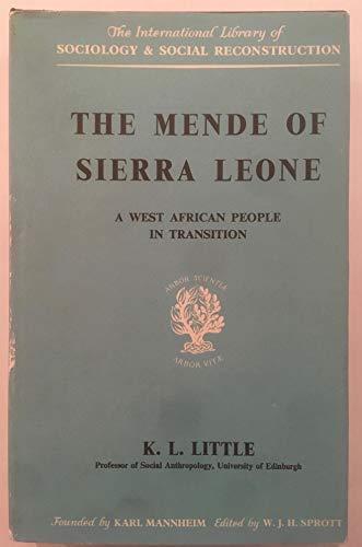 9780710032980: The Mende of Sierra Leone (International Library of Society)