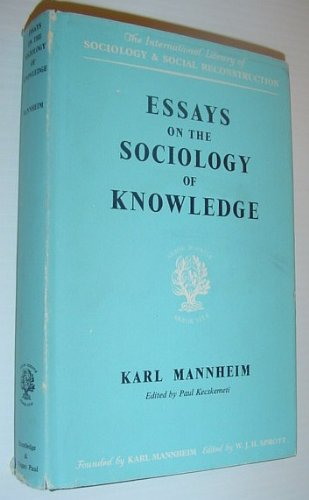 9780710033079: Essays on the Sociology of Knowledge